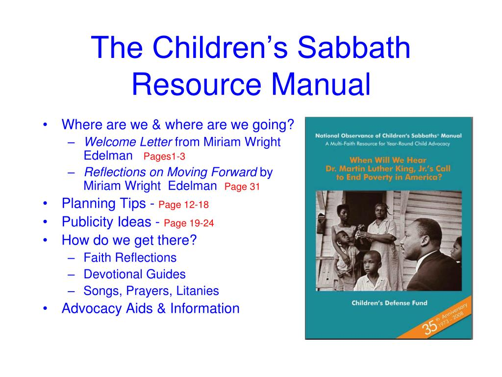 The Children's Sabbath Resource Manual