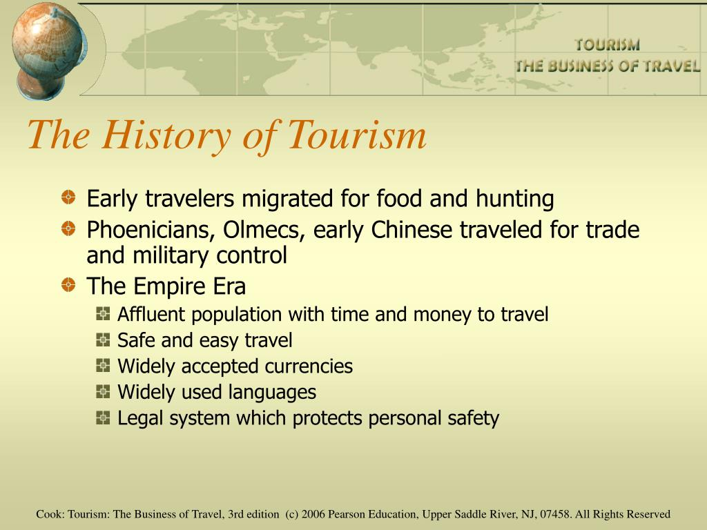 history of tourism in early period Transcript of historical development of tourism part 1 (early tourism - industrial revolution) people during the ancient times travelled in search for food and that is considered tourism.
