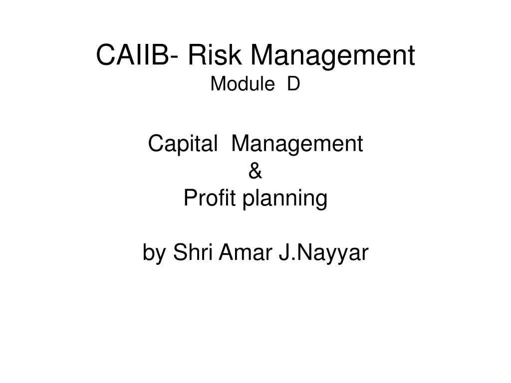 CAIIB- Risk Management