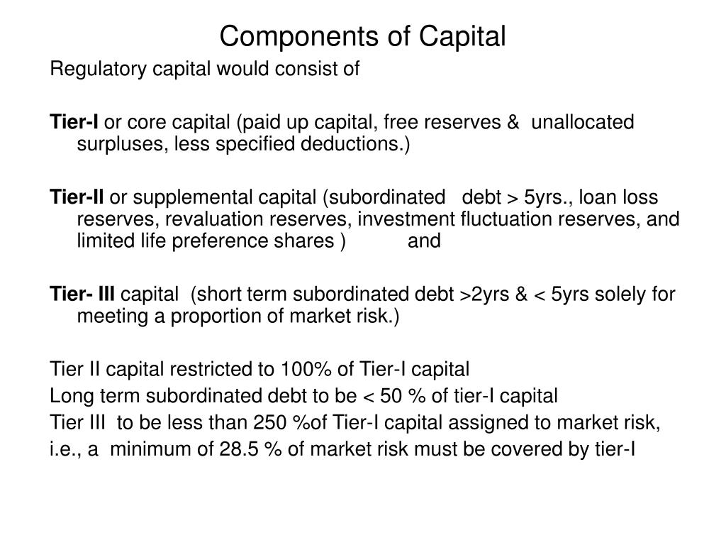 Components of Capital