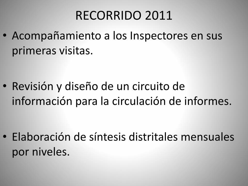 RECORRIDO 2011
