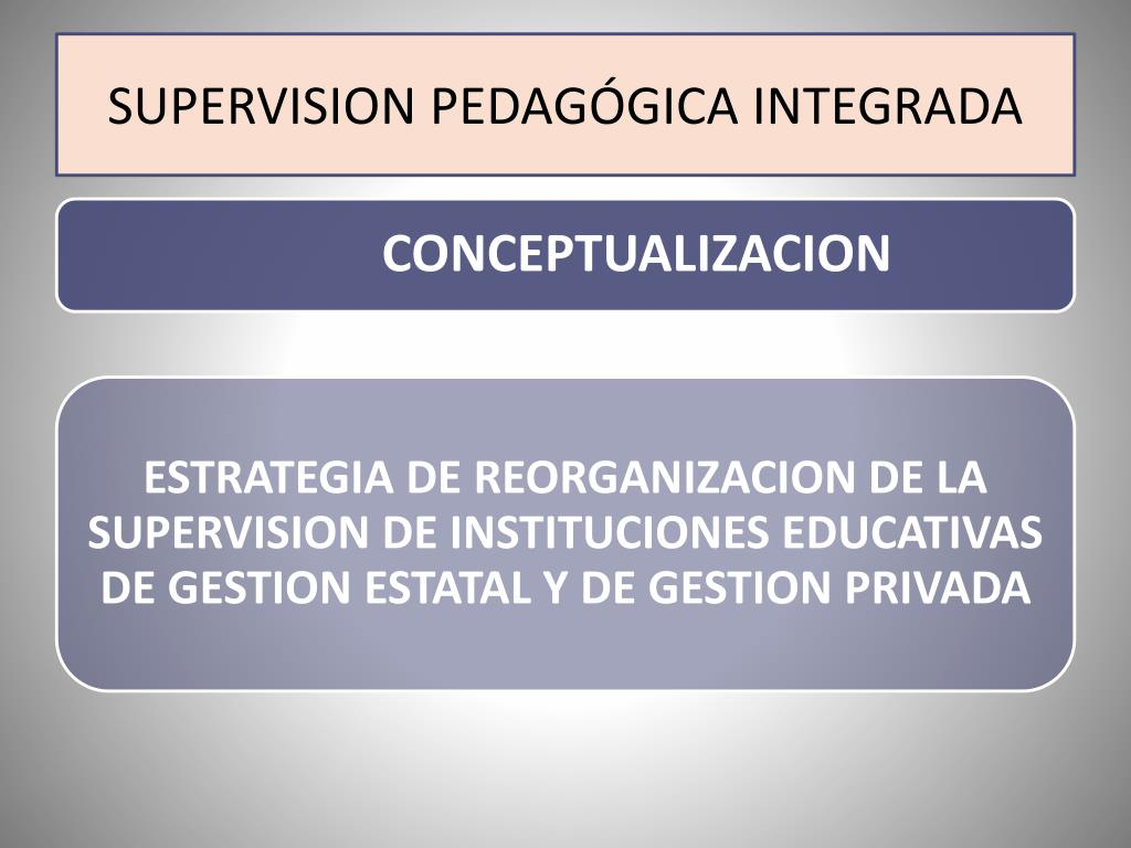 SUPERVISION PEDAGÓGICA INTEGRADA