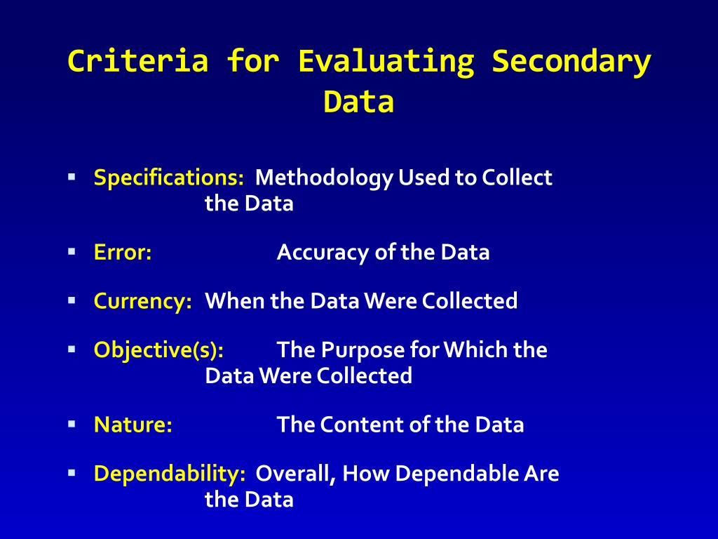 secondary data sources Secondary data sources for public health a practical guide secondary data play an increasingly important role in epidemiology and pub-lic health research and practice examples of secondary data sources include.