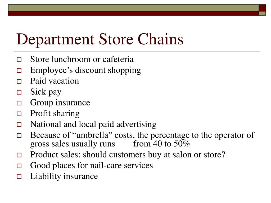 Department Store Chains