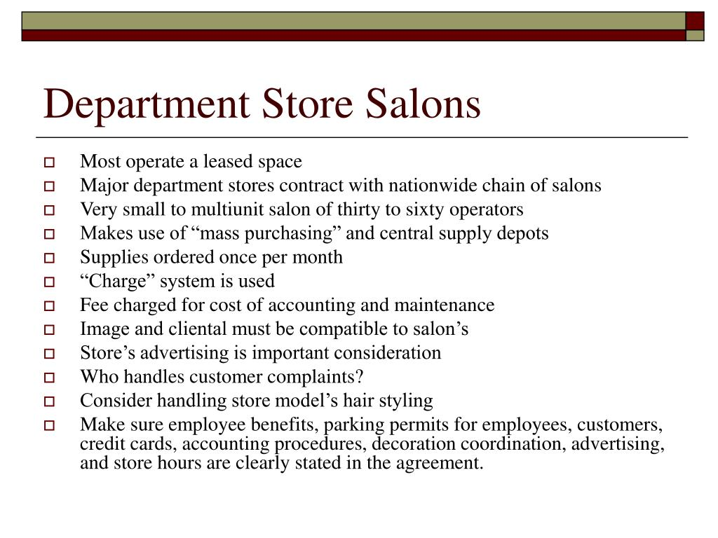 Department Store Salons