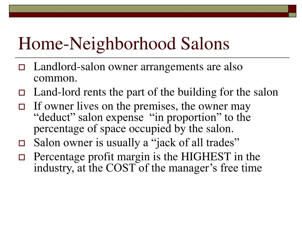 Home-Neighborhood Salons