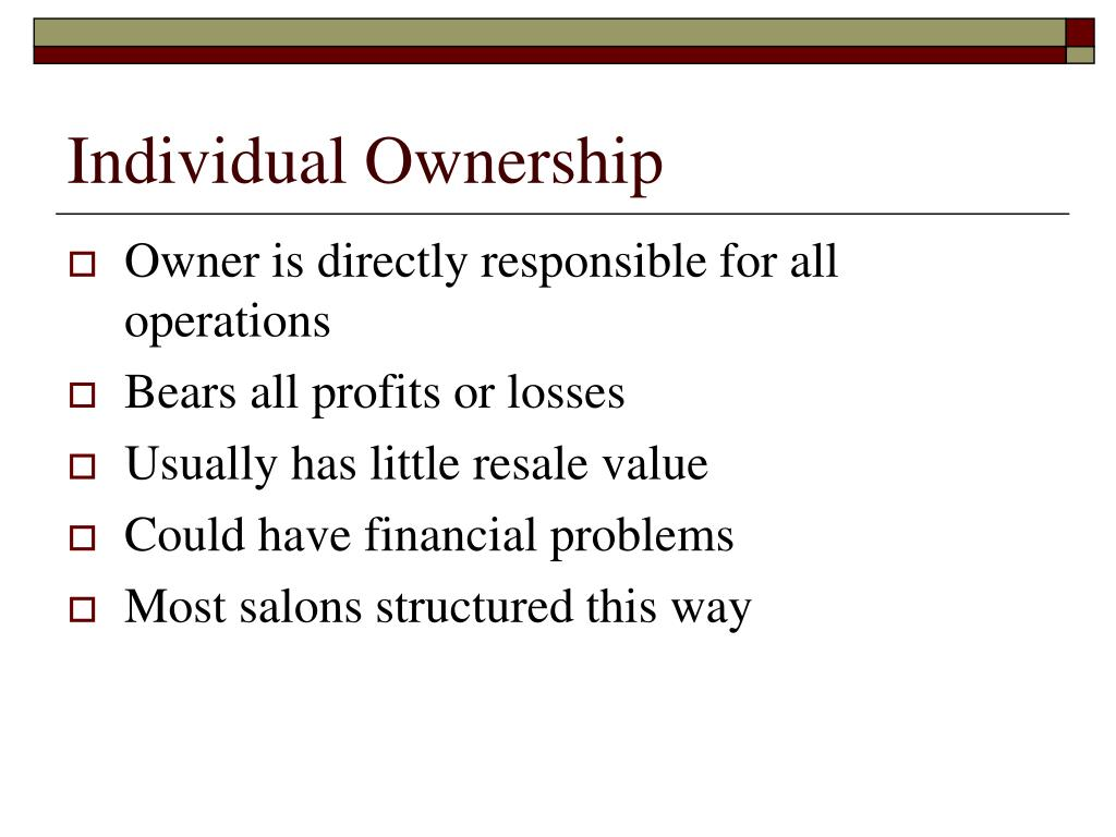 Individual Ownership