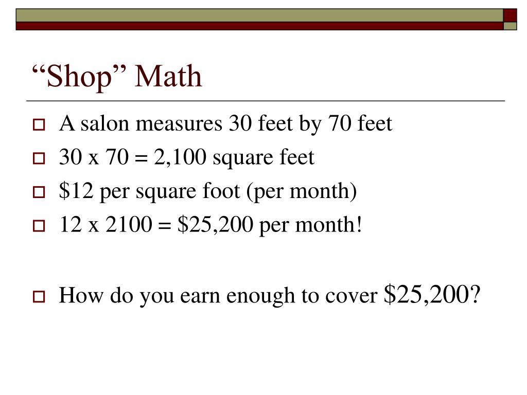 """""""Shop"""" Math"""