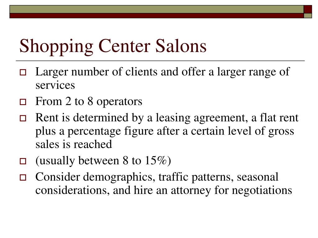 Shopping Center Salons