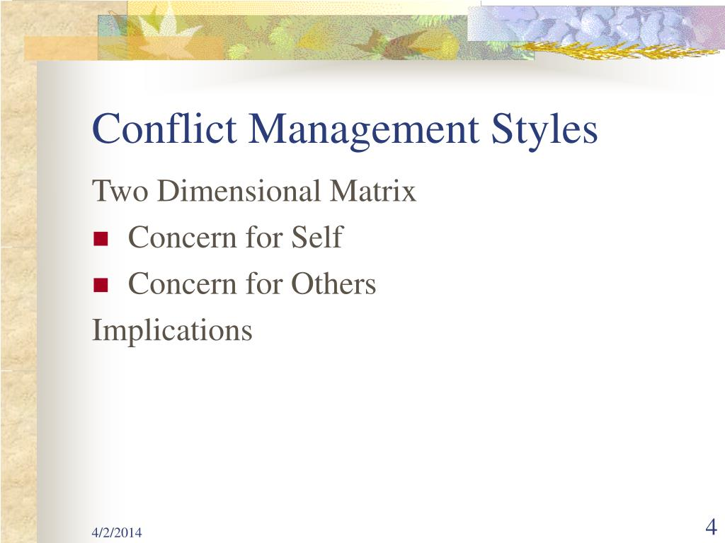 Conflict Management Styles