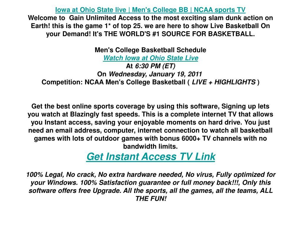 Iowa at Ohio State live | Men's College BB | NCAA sports TV