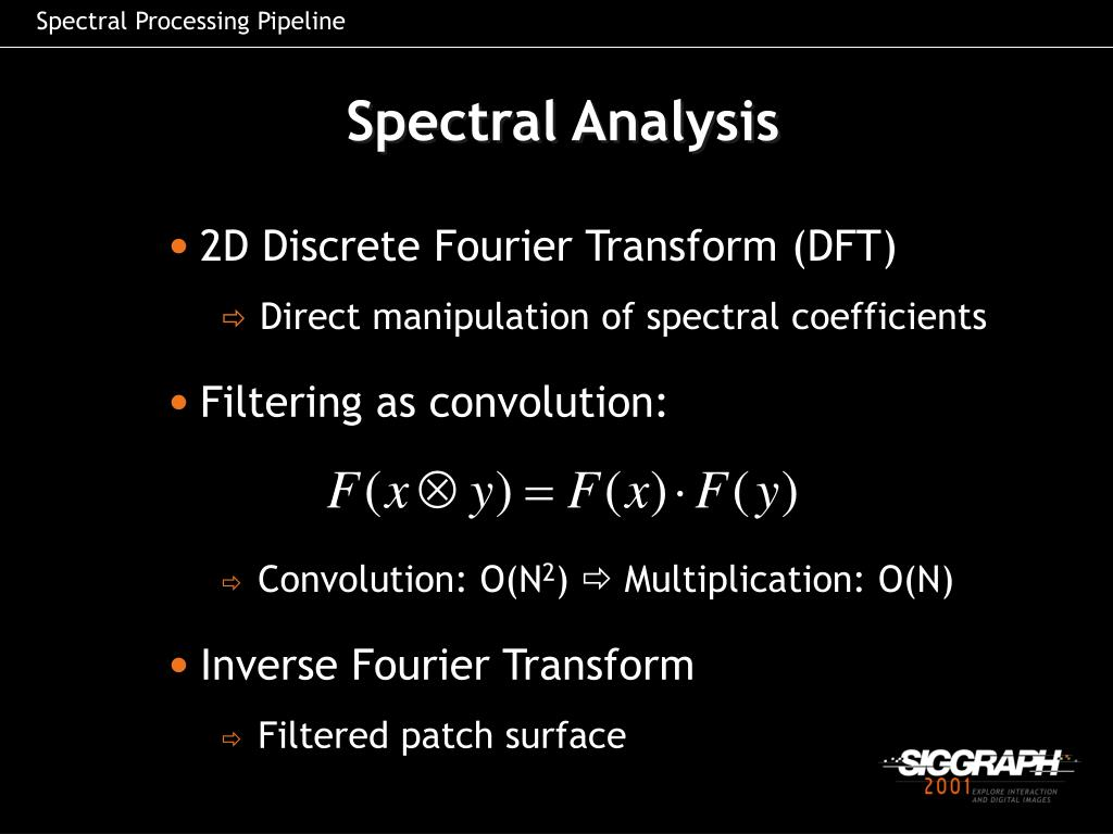Spectral Processing Pipeline
