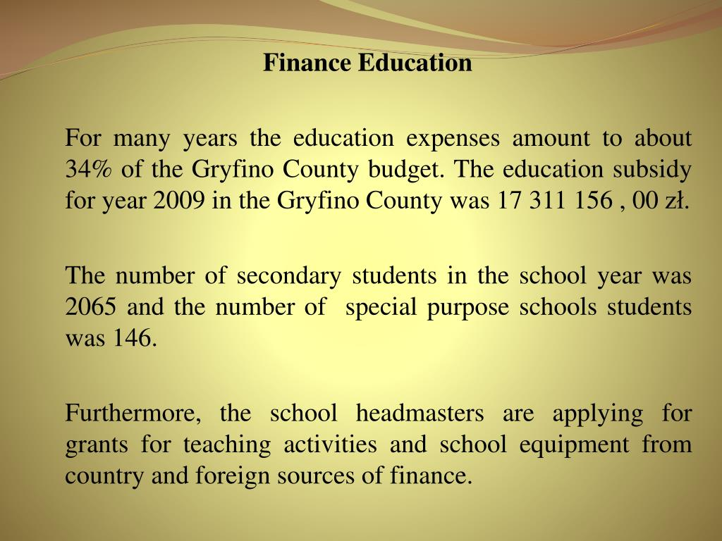 Finance Education