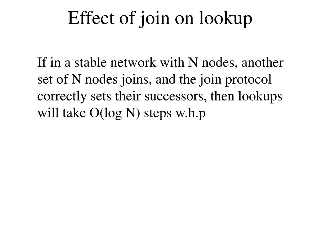 Effect of join on lookup