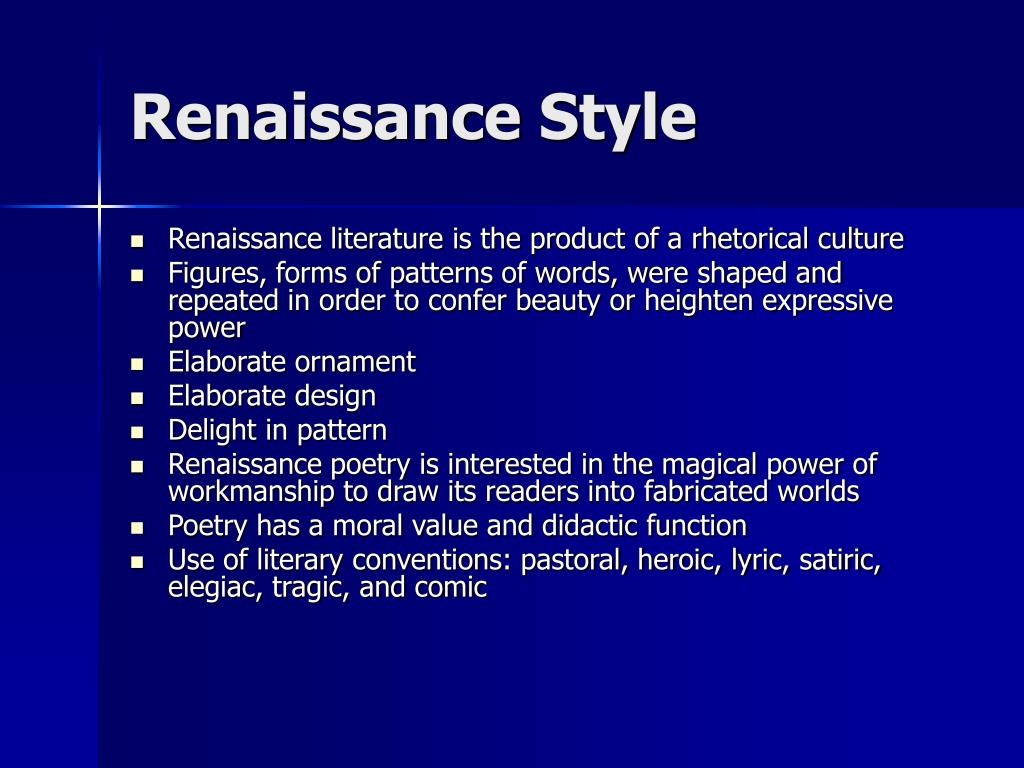 Renaissance Style