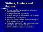 writers printers and patrons