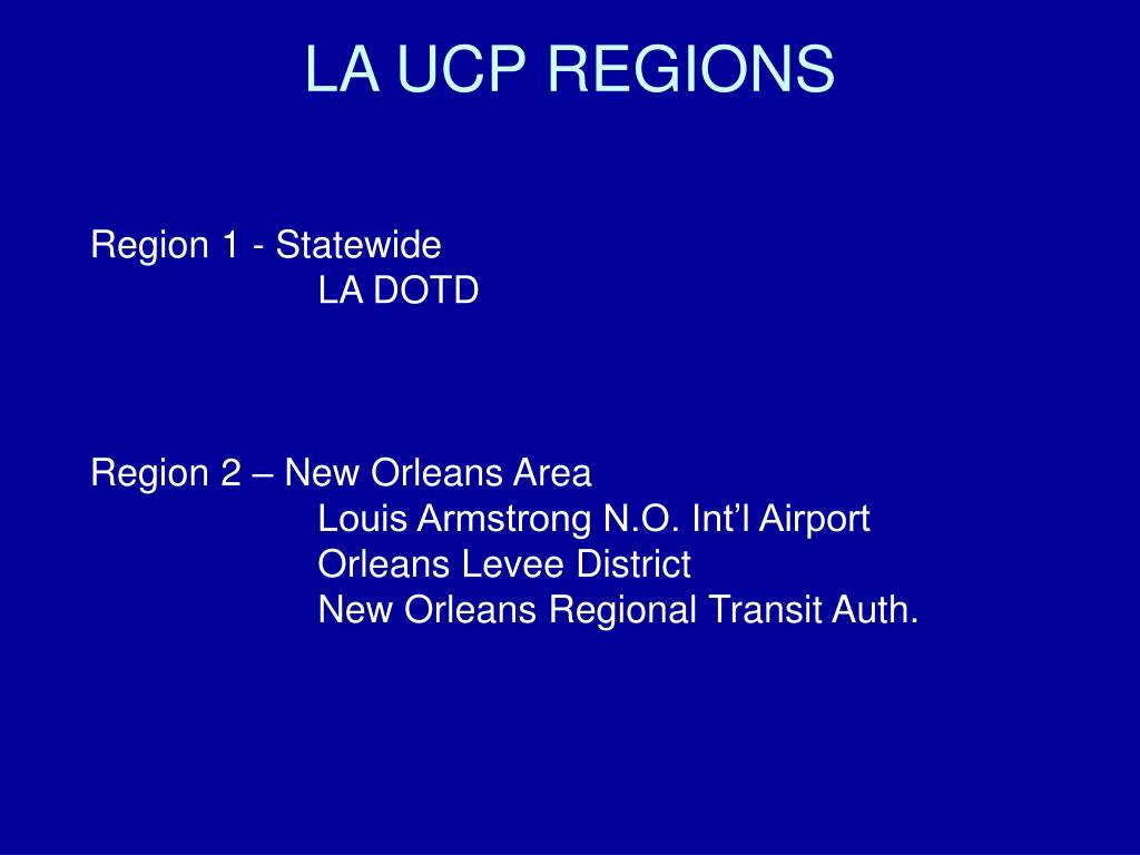 LA UCP REGIONS