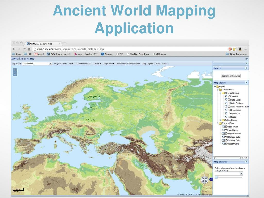 Ancient World Mapping Application