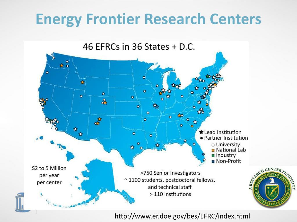 Energy Frontier Research Centers