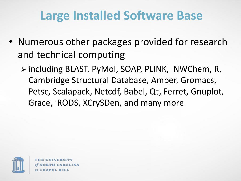 Large Installed Software Base