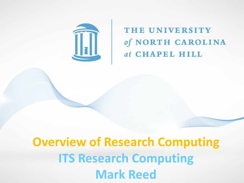 Overview of Research Computing