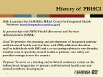 history of pbhci15