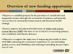 overview of new funding opportunity17
