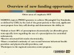 overview of new funding opportunity20