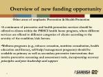 overview of new funding opportunity21