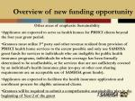 overview of new funding opportunity22