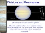 divisions and resonances