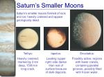 saturn s smaller moons
