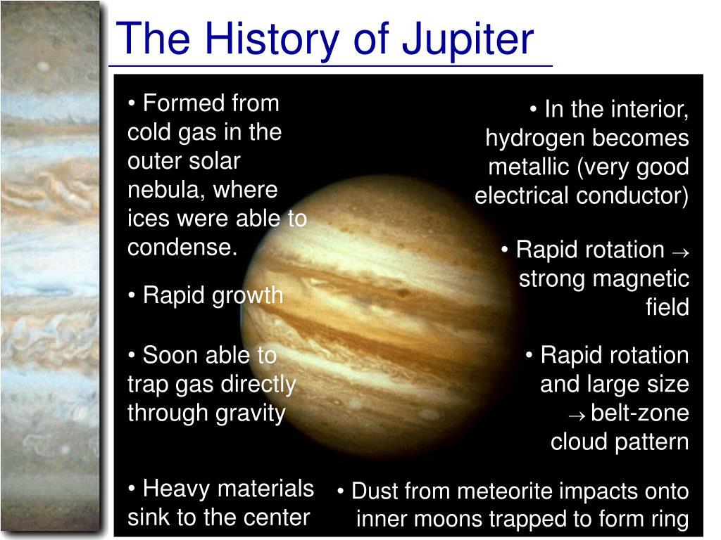 The History of Jupiter