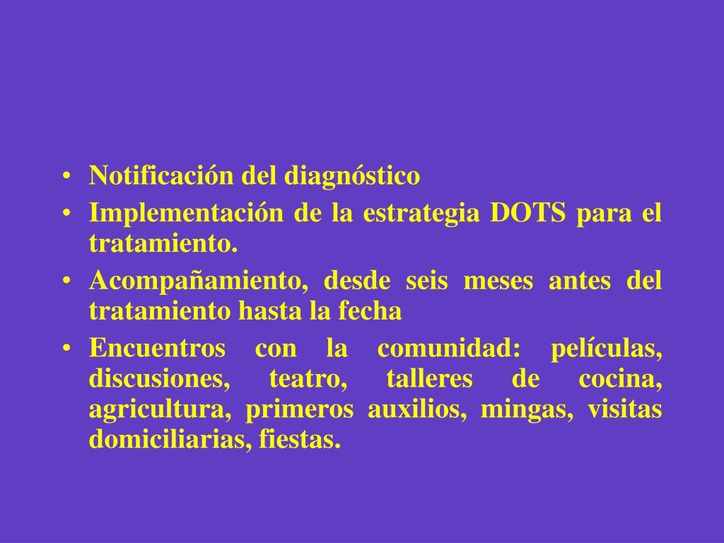 Notificación del diagnóstico
