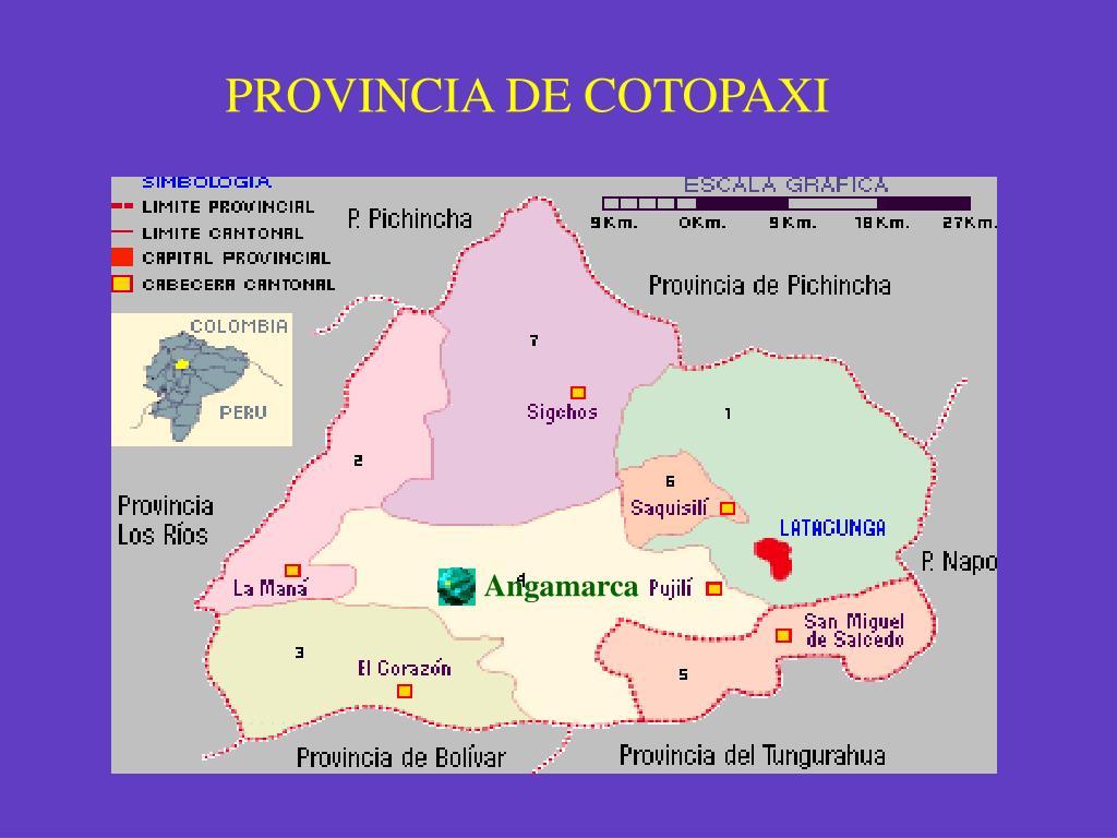 PROVINCIA DE COTOPAXI