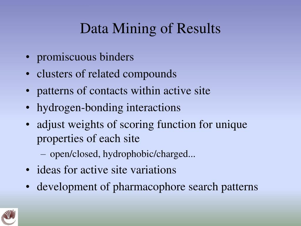 Data Mining of Results