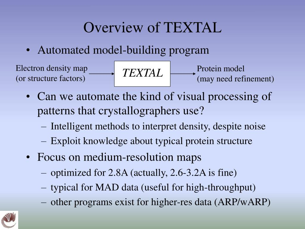 Overview of TEXTAL