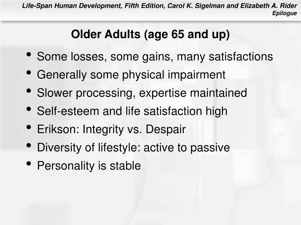 Older Adults (age 65 and up)