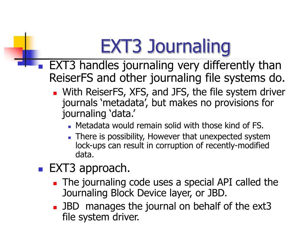 EXT3 Journaling