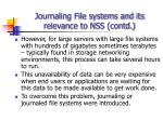 journaling file systems and its relevance to nss contd