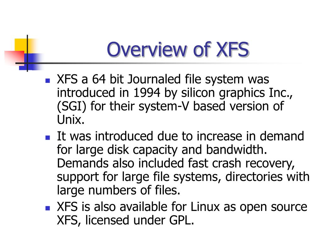 Overview of XFS