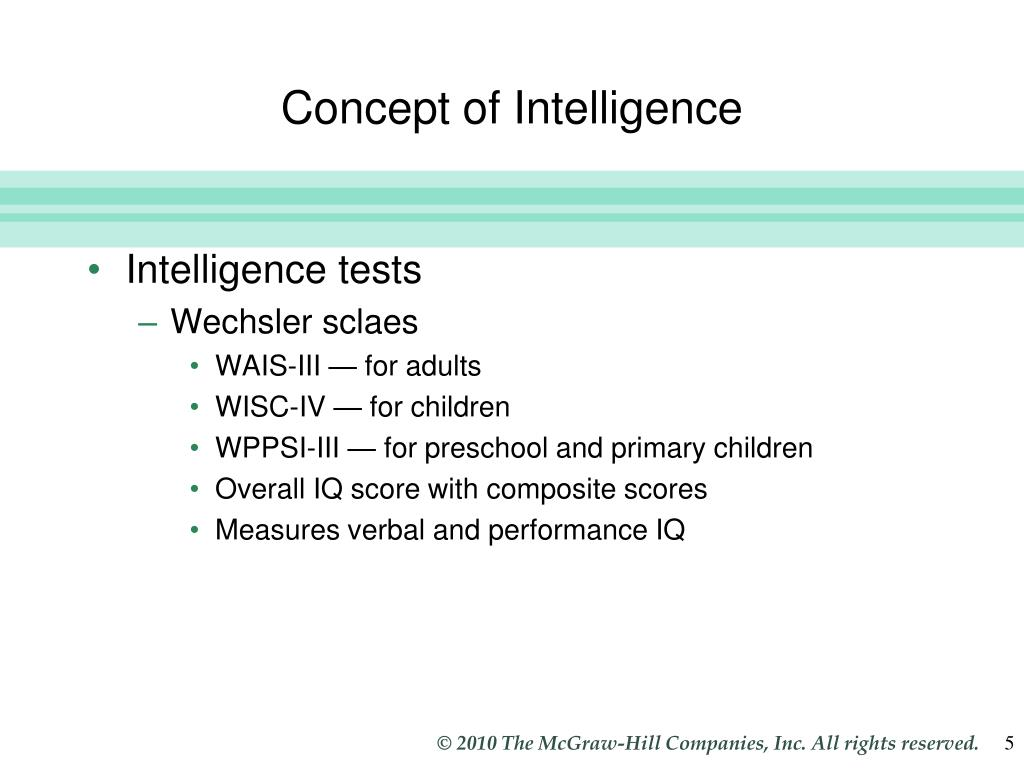 Concept of Intelligence