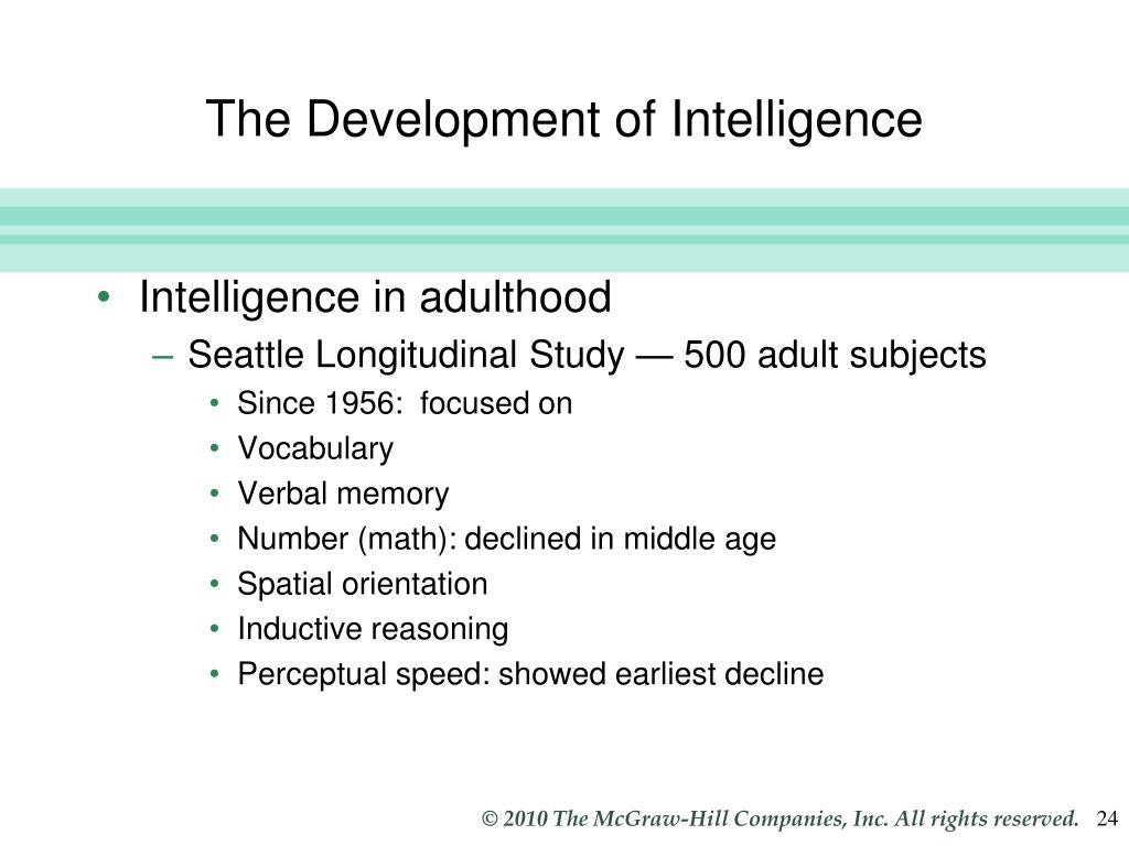 The Development of Intelligence