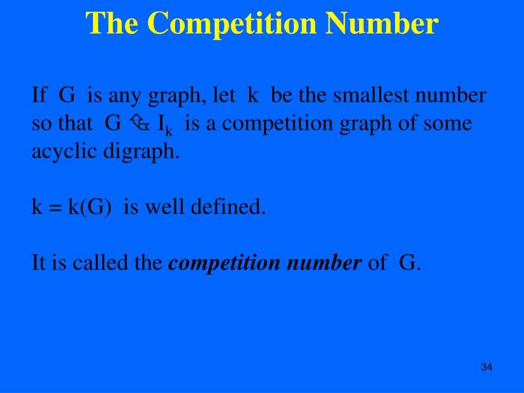 The Competition Number