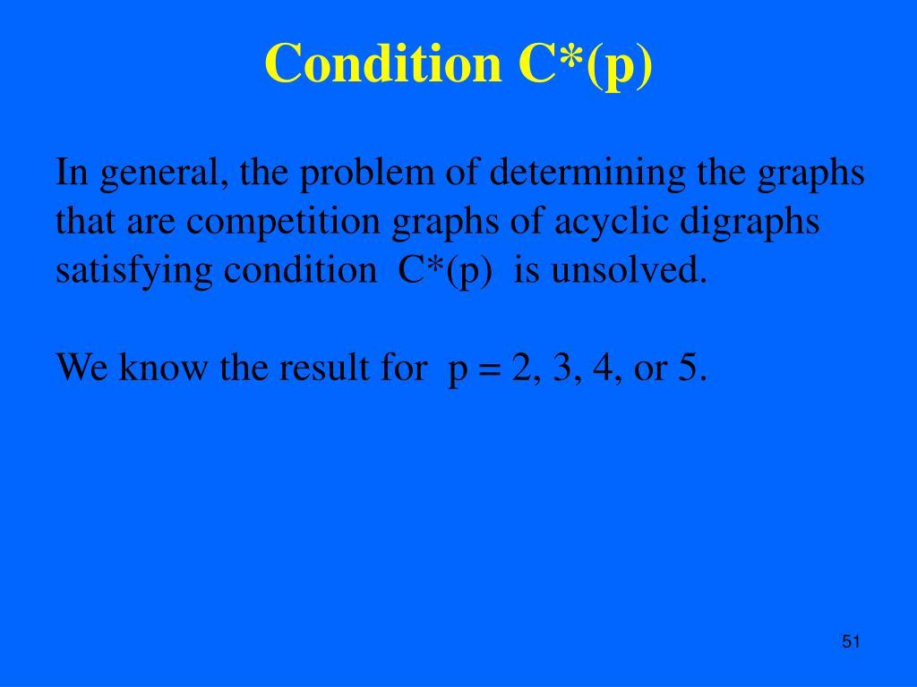 Condition C*(p)
