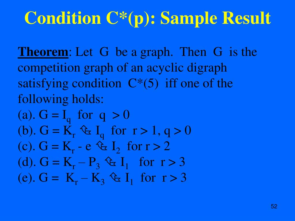 Condition C*(p): Sample Result