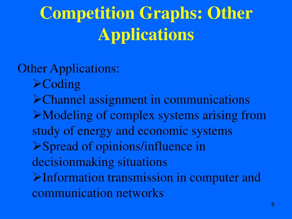 Competition Graphs: Other Applications