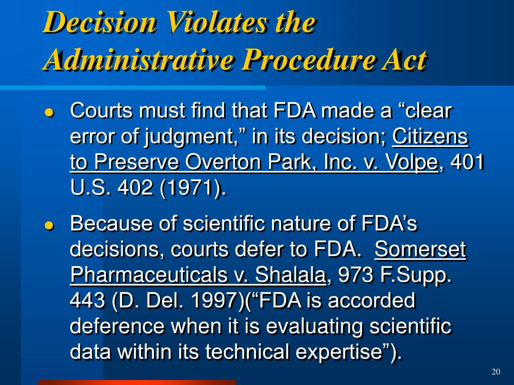 Decision Violates the Administrative Procedure Act