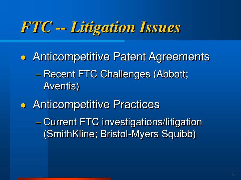 FTC -- Litigation Issues