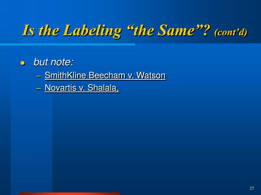 """Is the Labeling """"the Same""""?"""